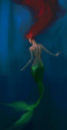 Disney Princess Princess. Fan art. creative. diva. beautiful. Ariel. Mermaid. Redhair