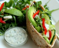 Veggie Feta and Arugula Pita Sandwich with Tzatziki Sauce | Tasty Kitchen: A Happy Recipe Community!