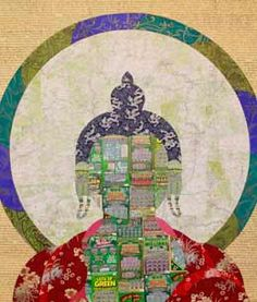 """Join us for a contemporary #Tibetan #art exhibition at Trace Foundation in New York, November 6 - December 21, 2014. gaton.trace.org """"Instant Buddha"""" (2011) by #TenzinRigdol from a private collection"""