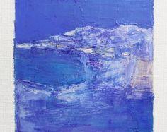 15 décembre 2016 peinture - abstrait peinture à l'huile - 9 x 9 (9 x 9 cm - environ 4 x 4 pouces) avec 8 x 10 pouces mat