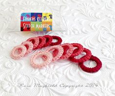 Stitch Markers Rose Ombre Rings by KnitnKaboodleDesigns on Etsy  #knit #stitch-marker #accessory #gift #keepsake