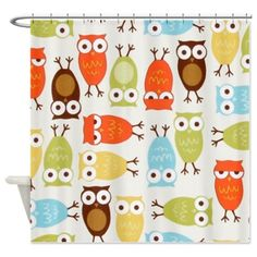 Owls Shower Curtain by acertaincurtain