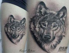 Husky Tattoo, Fox Tattoo, Tattoo Arm, Bad Tattoos, Wolf Tattoos, Tatoos, Wolf Tattoo Design, Tattoo Designs, Skin Candy