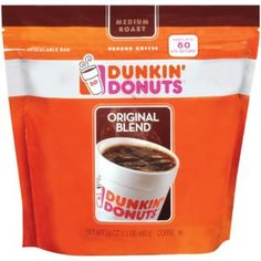Dunkin' Donuts Ground Coffee, Original Blend, Medium. You're going to need that caffeine boost again.