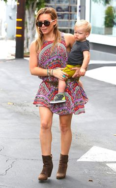 Hilary Duff and her adorable son Luca from The Big Picture: Today's Hot Pics!   E! Online