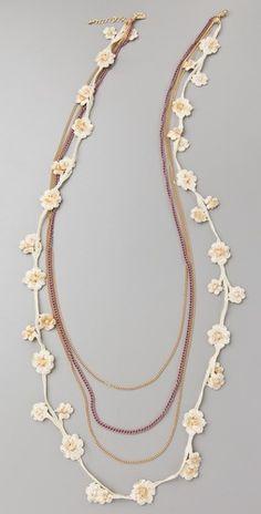 Juliet & Company Crochet en Soie Necklace