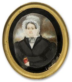 Abraham Parsell (1791-1856), attributed, Miniature Portrait of Mrs. David Jones, ca. 1835. Watercolor on ivory. Courtesy of the New Jersey Historical Society. 1936.13.