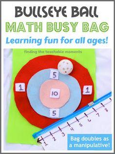 Finding the Teachable Moments: Bullseye Ball- Math Game in a Bag