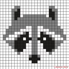 Mapache by Urcujiro on Kandi Patterns Knitting Charts, Knitting Stitches, Baby Knitting, Knitting Patterns, Needlepoint Stitches, Kandi Patterns, Perler Patterns, Beading Patterns, Beaded Cross Stitch