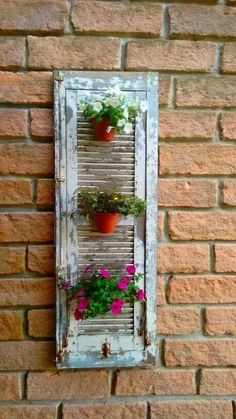 Are Plantation Shutters the Right Choice for Your Windows? – Akma Studio Are Plantation Shutters the Right Choice for Your Windows? Seu lixo é meu luxo Vertical Gardens, Small Gardens, Shutter Decor, Old Shutters, Roller Shutters, Diy Planters, Garden Planters, Patio Gardens, Rooftop Garden