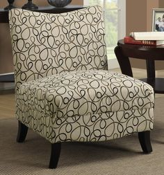 Tan Swirl Fabric Accent Chair, I-8047 by Monarch Specialties   BizChair.com