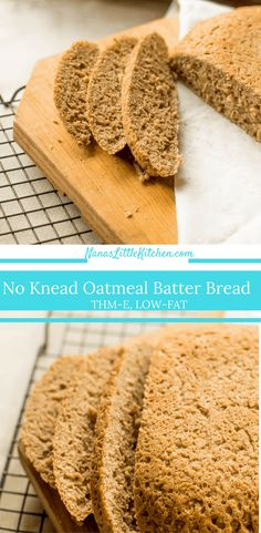 No Knead Oatmeal Yeast Bread