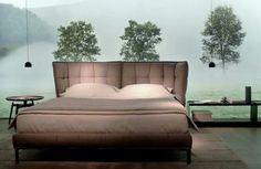 HUSK BED DESIGN BY PATRICIA URQUIOLA @ IMM COLOGNE 2014 #IMMCOLOGNE #BEBITALIA #PATRICIAURQUIOLA