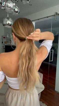 Hairdo For Long Hair, Bun Hairstyles For Long Hair, Cute Hairstyles, Hairstyles For Working Out, Cuts For Long Hair, Hair For Work, Dinner Hairstyles, Casual Updos For Long Hair, Cute Wedding Hairstyles