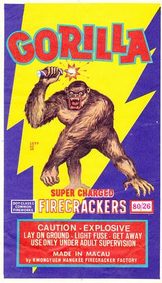 Gorilla - Firecracker Brick Label by Aeron Alfrey