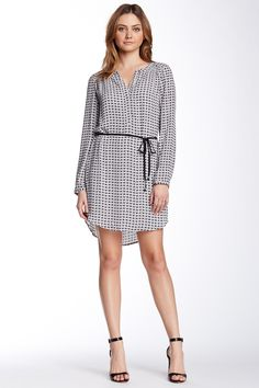 Daniel Rainn | Long Sleeve Geo Shirt Dress