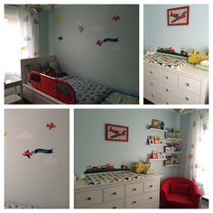 Boy 39 S Room Inspiration Came From The Red Airplane Frame That His