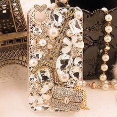Blin gemstone flower iPhone Case paris tower door lovelyiphonecase, $19.99