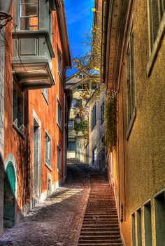 HDR Zurich Old Town. by sandrotto, via Flickr