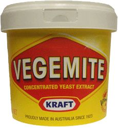 Kraft Vegemite Tub 5.5lbs. The Aussie essential. Vegemite is a salty spread with distinct taste acclaimed by Australians everywhere. Americans please use in moderation. The ultimate Australian Food.