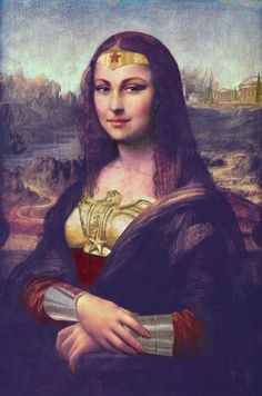 Wonder Woman + The Mona Lisa