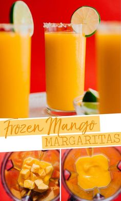 Frozen Mango Margarita Slush Whether you're in need of a slushy cocktail or are just trying to clean out the freezer, this Frozen Mango Margarita Slush recipe is the refreshing cocktail you need. It's a healthy cocktail idea that is Frozen Margaritas, Frozen Mango Margarita, Frozen Drinks, Mango Margarita Recipes, Mango Rum Drinks, Mexican Margarita Recipe, Mango Sangria, Homemade Margaritas, Recipes