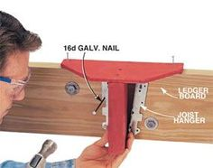 Build this jig to ensure the correct joist height.--- to build a deck