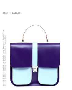 b6250d45662a Brix and Bailey Luxury Leather Shoulder Bags and Accessories · Kožená  kabelka Onslow Purple Blue XL Structured Bag