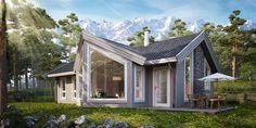 Sande Hus og Hytter AS - Brattskarven Gazebo, Shed, Real Estate, Outdoor Structures, Cabin, House Styles, Outdoor Decor, Homes, Home Decor