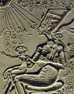 Nefertiti and her two daughters.