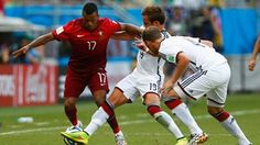 Mats Hummels does put clear daylight between the teams. The Borussia Dortmund centre-back shoves Portugal marker Pepe out of the way to meet Toni Kroos's outswinging corner with a thumping header. 2-0