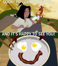 A little Mushu for your Monday... #Monday #Mulan #Breakfast