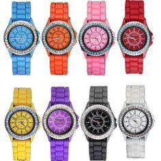 Hot Sale 8PCS/Set Jelly Crystal Quartz Battery Fashion Lady Women Wrist Watch Watches Retailstore. $24.99