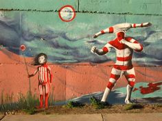 hombre y niño Selk'nam cultura extinta chilena - al estar por esos terrenos uno se da cuenta de lo poco que conservamos nuestras raices culturales, este fue nu grafiti que fotografie bajo el puente del rio CALLE CALLE en valdivia - Fotolog