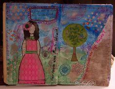 Sparrow's Journey by Heather Santos: Art Journaling