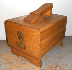 Vintage Shoe Shine Box, Griffin Shine Master, Wood Box, Shoe Shine Kit, Two…