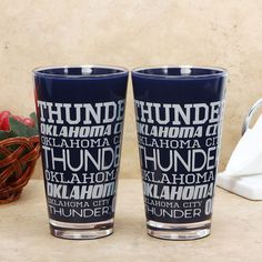 Oklahoma City Thunder Repeat Plastic Color Pint Cups is in stock now at NBA Store and Guaranteed Authentic. Thunder Players, Pint Cups, Repeat, Plastic, Color, Nba, Fitness, Sports, Sport