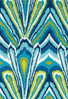 Trina Turk Peacock Fabric - This is being made into a gorgeous pillow for our living room or master bedroom!  :)