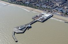 Clacton Pier, which opened on 27 July 1871 was officially the first building erected in the then-new resort of Clacton-on-Sea. Little England, Essex England, Aerial Images, Norfolk, Wales, Fields, United Kingdom, Ireland, Sea