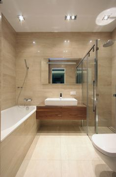 This is the bathroom. Wetroom, floating units. My Keuco mirror.