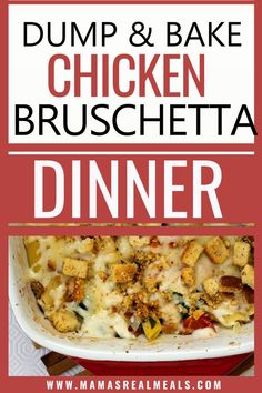 As a busy mom of dump recipes are my go-to! This baked chicken pasta is as easy as dump it in and go, with pasta, veggies and cheese its a no- fail! Dump Meals, Dump Recipes, Crockpot Recipes, Keto Recipes, Easy Chicken Dinner Recipes, Best Chicken Recipes, Chicken Pasta Bake, Baked Chicken, Casserole Dishes