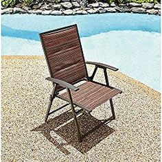 Garden Oasis Matching Folding Padded Sling Chair- Palmetto