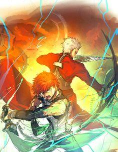 Fate Stay Night Series, Fate Stay Night Anime, Manga Anime, Anime Art, One Punch Anime, Fate Archer, Action Pose Reference, Shirou Emiya, Anime Ninja