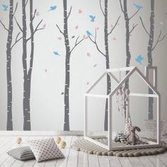 Vinilo decorativo abedules, exclusivo diseño para decoración de habitaciones infantiles. https://nowayvinilos.com/es/home/43-3-abedules-vinilo-decorativo.html