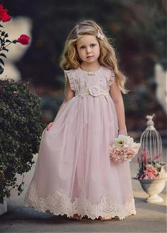 371d28200602 blush pink girls dresses · Buy discount Charming Organza & Satin Jewel  Neckline A-Line Flower Girl Dresses With