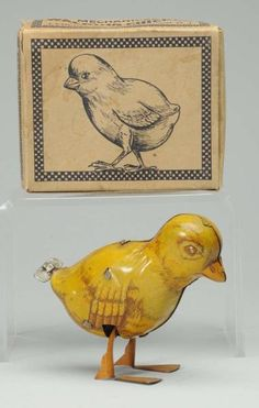 - Tin Litho Chein Wind-Up Walking Chick