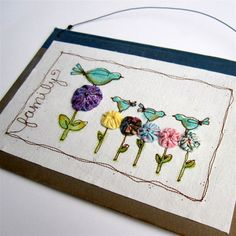 Embroidery - I LOVE THIS! I'm going to make it!