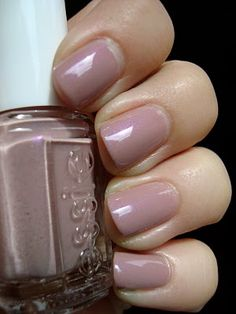 Essie Demure Vixen nails for fall