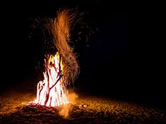 Bonfires - a Halloween tradition in Ireland.