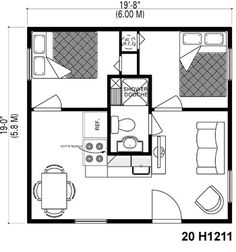 ...I love this unwasted space floorplan that does NOT have the main door open to the kitchen (potential cluttered eyesore)